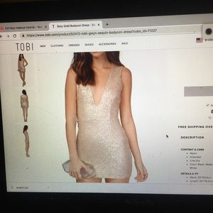 Champagne sequin night out dress